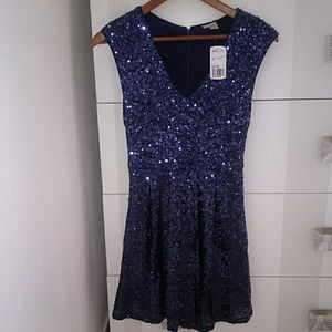 Forever 21 Sequin Party Mini Dress Glitter Small